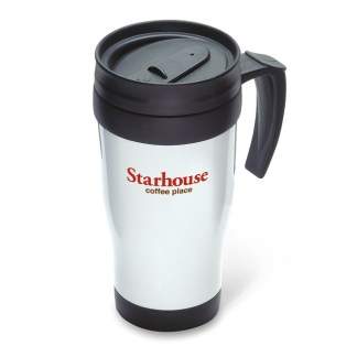 Plastic travel mug