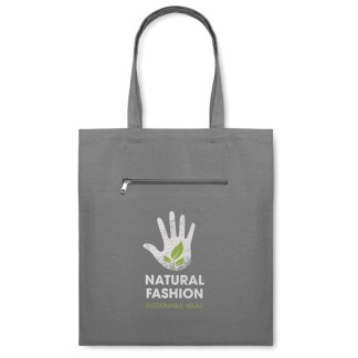 Canvas shopping bag with short handles