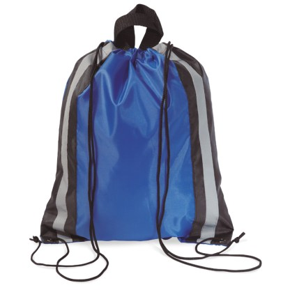 Reflective stripe drawstring bag