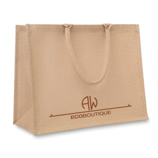 Jute laminated shopping bag