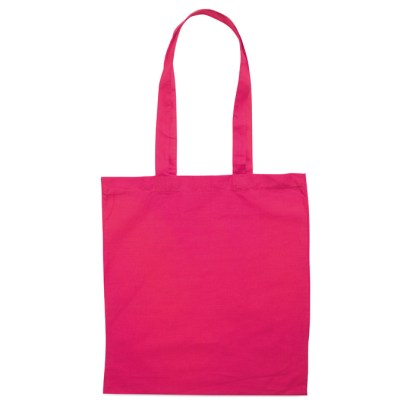 Cotton shopping bag with long handles