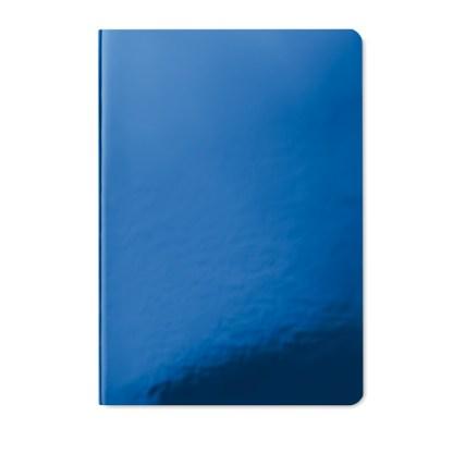 Shiny soft cover notebook