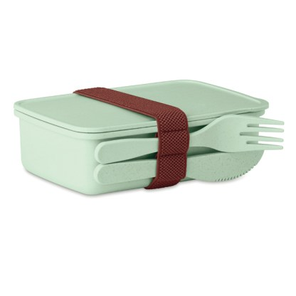 Lunch box in bamboo fibre/PP