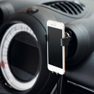 Wireless charging phone holder