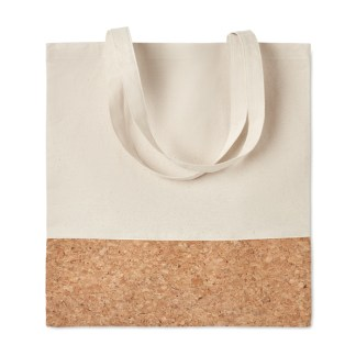 Shopping bag with cork details