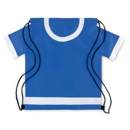 T-shirt shaped drawstring bag