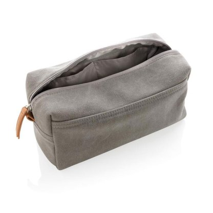 Canvas toiletry bag PVC free