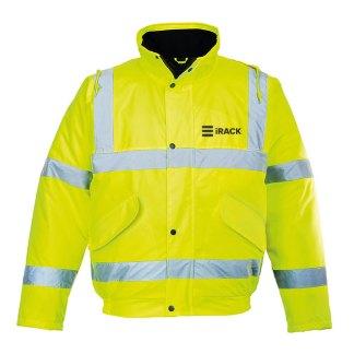 Hi-vis waterproof bomber jacket