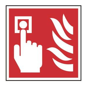 Fire alarm call point symbol sign (self-adhesive)