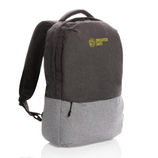 """Duo color RPET 15.6"""" RFID laptop backpack"""