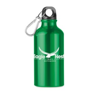 Mid Moss aluminium bottle with carabiner
