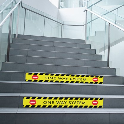 Stair graphic stickers