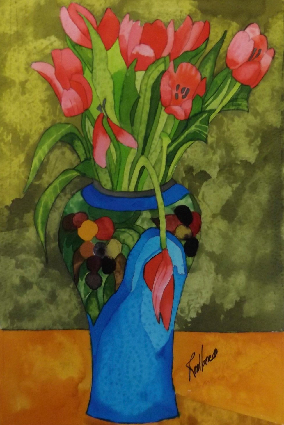 Tulips. Inks and Dyes. 20 x 28 cm. POA