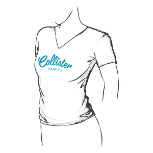 Collister Fitted V Neck Tee
