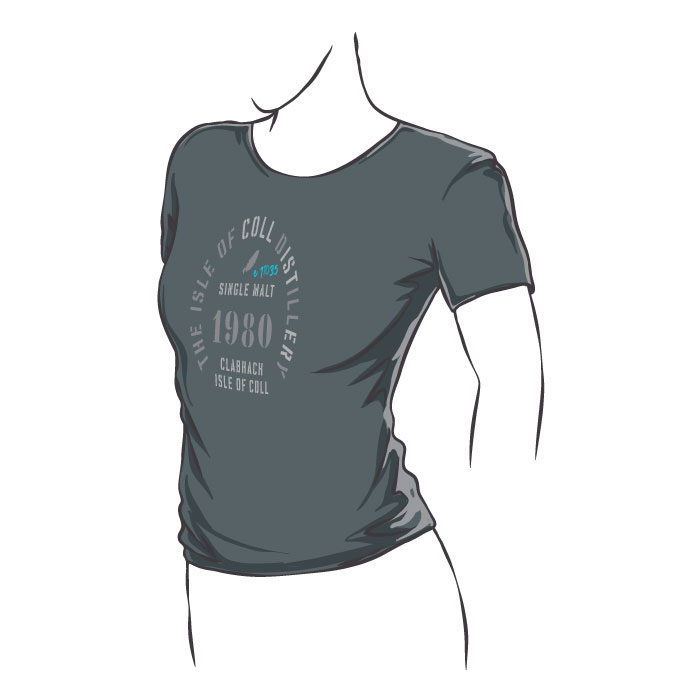 Isle of Coll Distillery Fitted T-Shirt