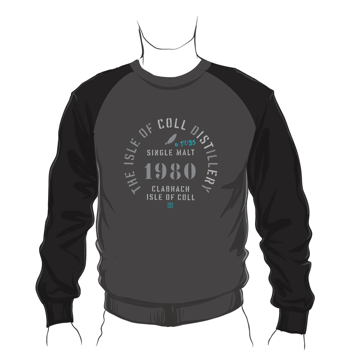 Coll Distillery Baseball Sweatshirt