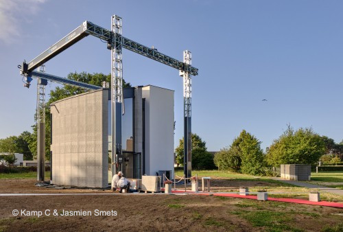 First two-storey 3D printed house in Europe - View