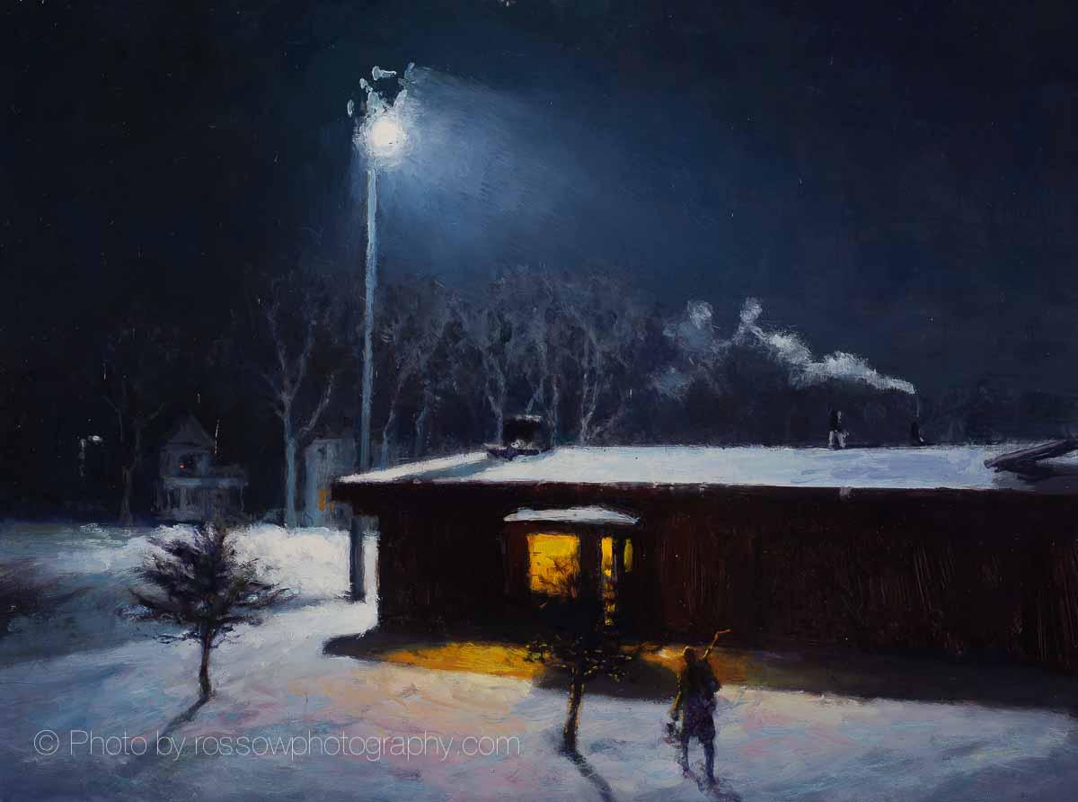 Artwork Photography of Night Rink 12x16