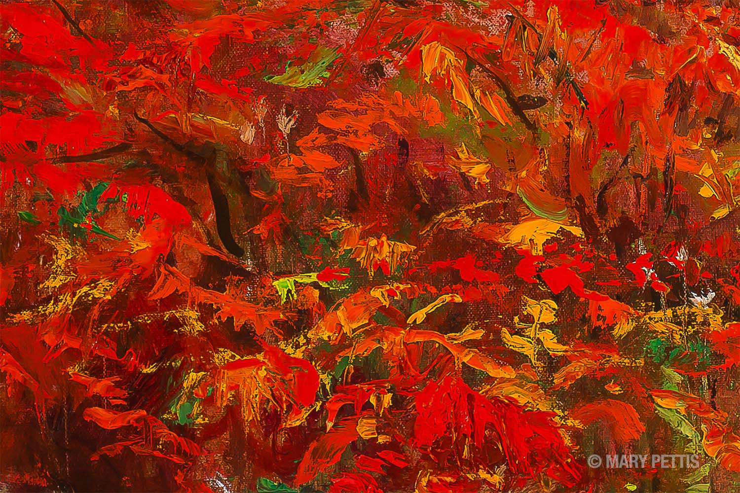 Oil Painting Photography - Documentation Photography - Sumac Detail