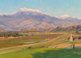 Evening, MT San Jacinto-14x22