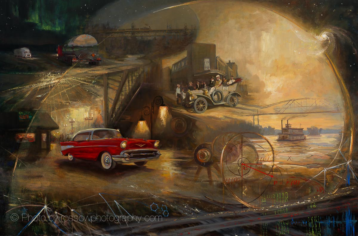automotive mural 48 x 72 rossow fine artwork photography