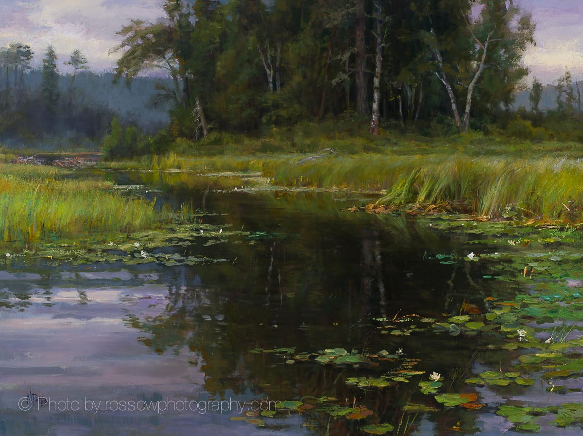 Water Lilies on Balsam Creek-Mary Pettis
