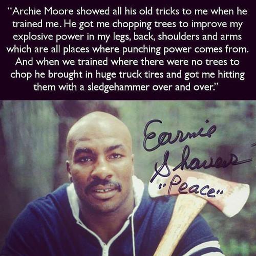 Earnie Shavers Sledgehammer Training
