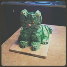 The awesomely minty cat cake!