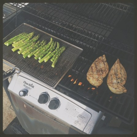 On the grill...