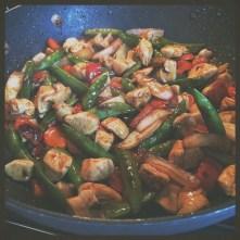 Add chicken...