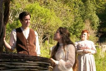 Zach Stewart as Alexsey, Emily Ludlow as Vera, and Shannon Veon Kase as Natalya. Photo by Robin Jackson.
