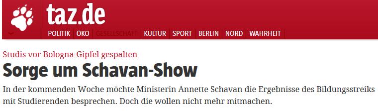 Schavan Show