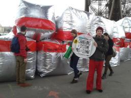 Klimaschutzproteste in Paris.