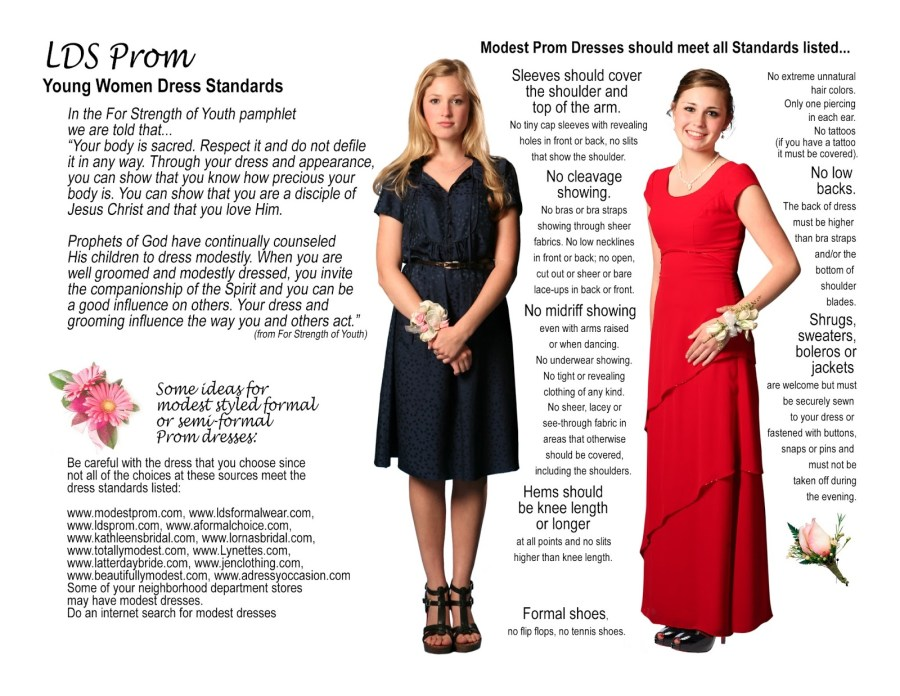 Young Women Formal Dress Standards