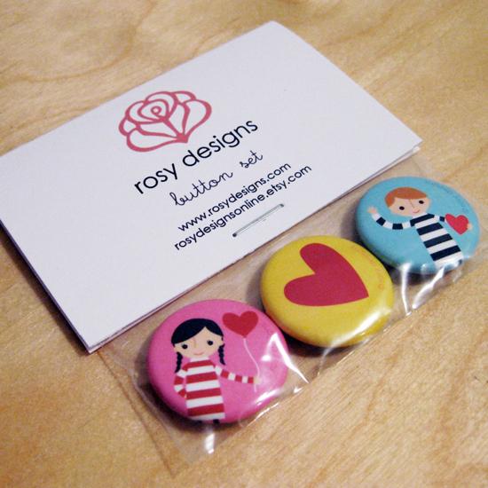 Rosy Designs Button Set