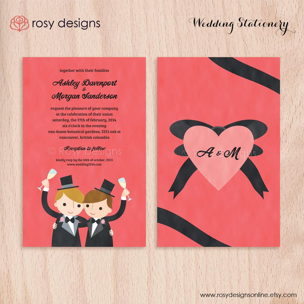 Wedding Invitations - Rosy Designs