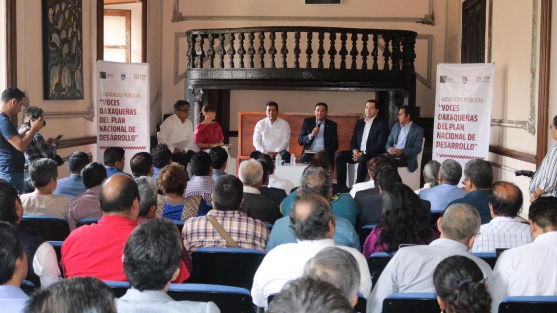 En coordinación con la UABJO, inician Audiencias Públicas sobre el Plan Nacional de Desarrollo: BRM