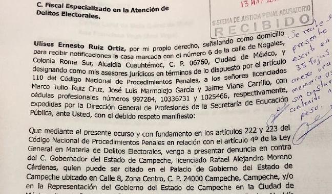 Ulises Ruiz denuncia a «Alito» por presunto desvío de recursos