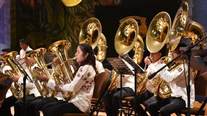En concierto, la Banda Filarmónica del CECAM reafirma la tradición musical de los pueblos indígenas de Oaxaca