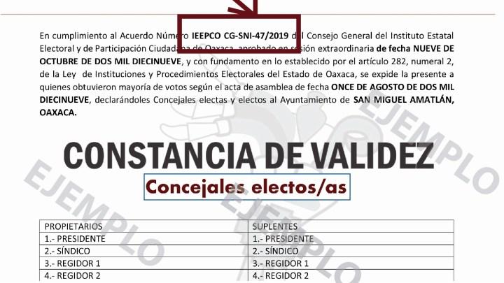 Inicia IEEPCO registro de constancias de validez de elecciones municipales