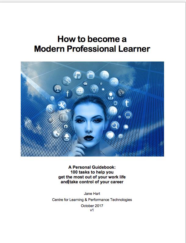 modern professional learner learning workplace jane hart C4LPT ebook rotana ty