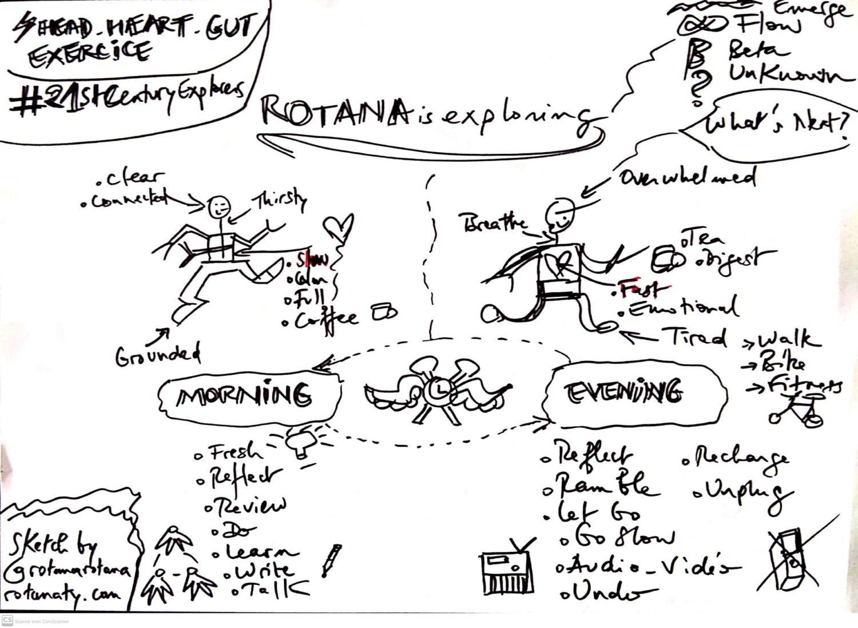 holistic health explorer sketch visual thinking rotana ty
