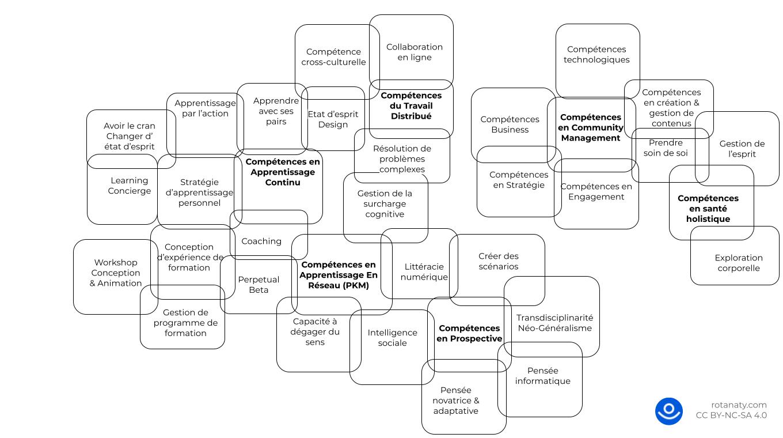 compétences futur travail apprendre formation learning management community réseau rotana ty pensée visuelle carte