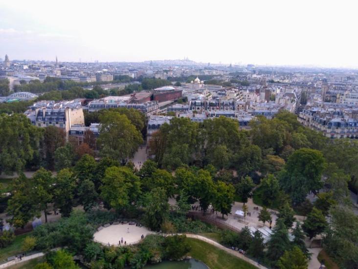 eiffel tower view garden