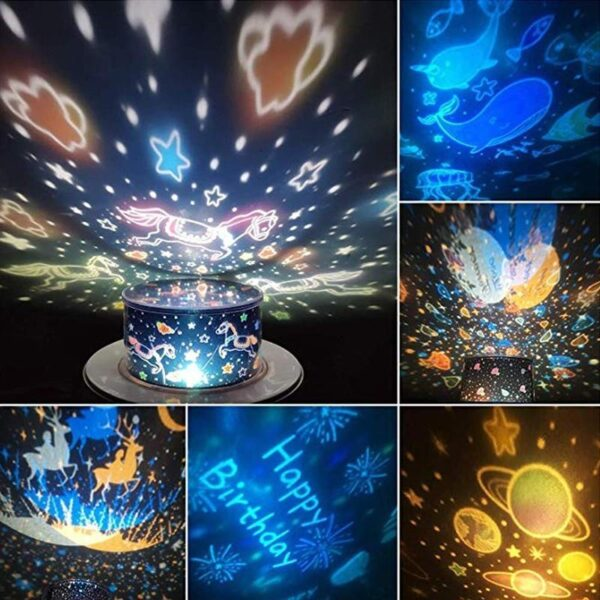 360 Rotation Starry Sky Projector
