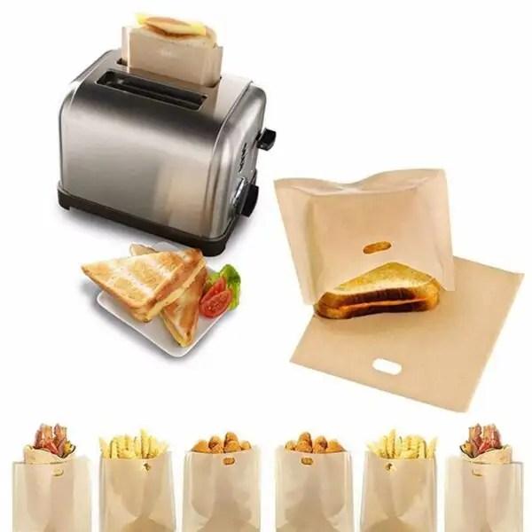 2pcs Reusable Toaster Bags