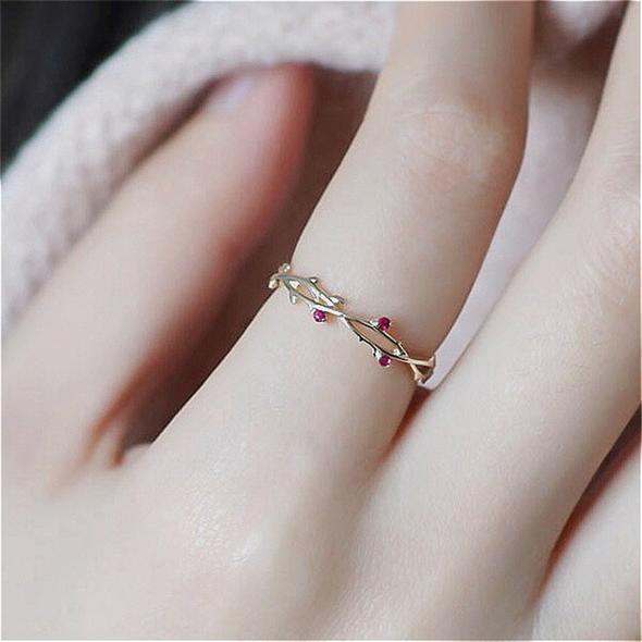 Cute Dainty Branch Ring