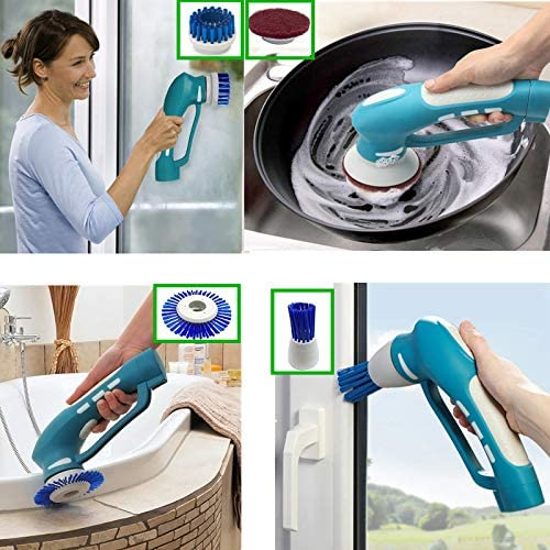 Electric Scrubber Power Cordless, Portable 360 Handheld Washing Cleaning Machine