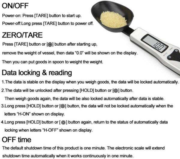 Digital Spoon Scale 500g/0.1g