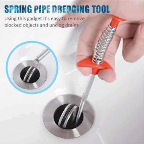 Spring Pipe Dredging Tool